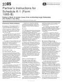 Partner's Instructions For Schedule K-1 (form 1065-b) - 2005