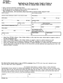 Form Dtf-806 - Application For Refund And/or Credit Of Sales Or Use Tax Paid On Casual Sale Of Motor Vehicle - New York State Department Of Taxtation