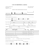 Application For Business License Form - City Of Northport - Alabama