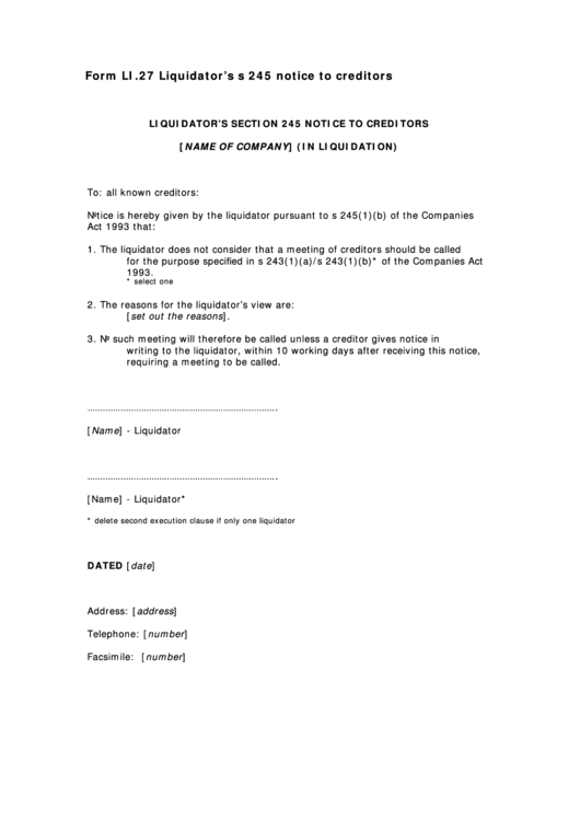 Top Notice To Creditors Form Templates free to download in PDF ...