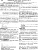 Form Uz-50-a - Combined State Sales And Use Tax Urban Enterprise Zones Sales Tax - Filing Instructions