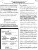 Form Tr-125 - Instructions For Voluntary Dissolution Of New York State Business Corporations