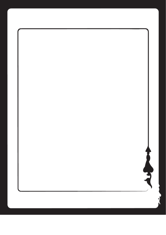 Black And White Border Template Printable pdf