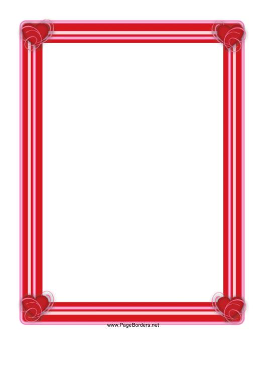 Love Border Template Printable pdf