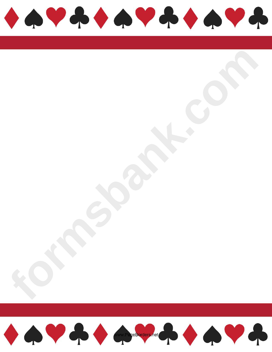 Playing Card Border Template