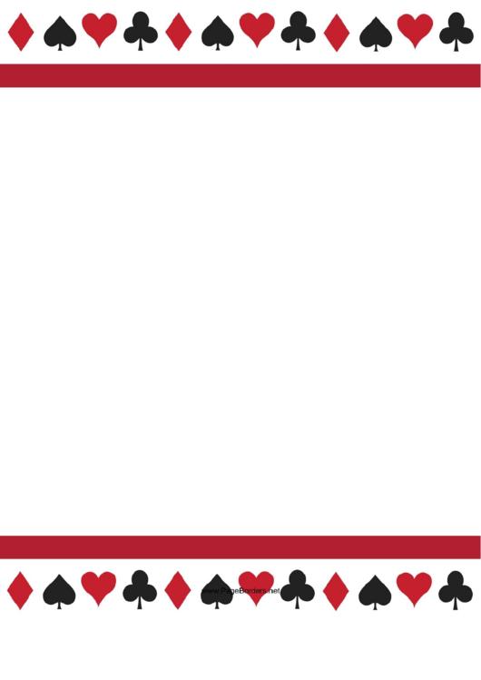 Playing Card Border Template Printable pdf