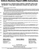 Uniform Business Report (ubr) Instructions