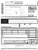 Form Cr-q - Commercial Rent Tax Return - 2005/06