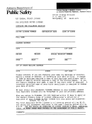 Driver License Division Form - Alabama Department Of Public Safety