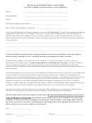 Release And Indemnification Form For Field Trips, Exchanges Or Excursions