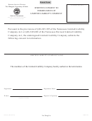 Form Ss-4521 - Written Consent To Termination Of Limited Liability Company
