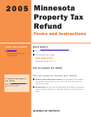 Form M1pr - Minnesota Property Tax Refund Return Instructions - 2005