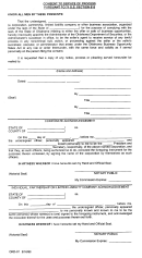 Form Odr-01 - Consent To Service Of Process Pursuant To 71 O.s Section 818