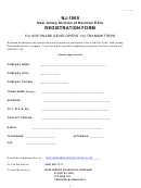 Form Nj-1065 - New Jersey Division Of Revenue E-file Registration Form For Software Developers And/or Transmitters - 2002