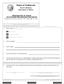 Form Ra-100 - Resignation Of Agent Upon Whom Process May Be Served - State Of California Secretary Of State