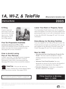 1a, Wi-z, & Telefile Wisconsin Income Tax Instructions