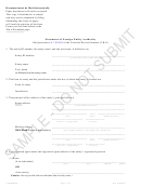 Statement Of Foreign Entity Authority Sample Form