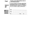 Federal Tax Kit Form