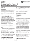 Instructions For Form 945 - Annual Return Of Withheld Federal Income Tax - 2006
