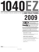 Form 1040 Ez - Instructions Booklet - Internal Revenue Service - 2009