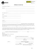 Form Ina-ct - Affidavit Of Inactivity