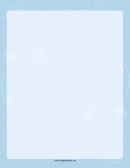 Fancy Blue Wave Border Template