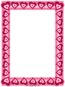 Heart Border Template