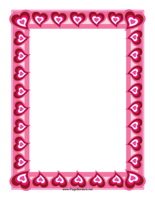 Heart Border Template Printable pdf