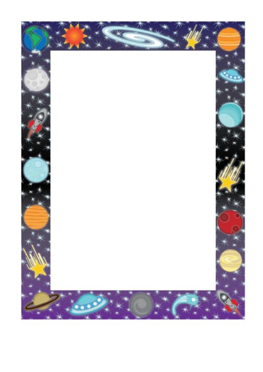 Space Border Template Printable pdf