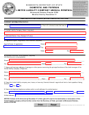 Domestic And Foreign Limited Liability Company Annual Renewal - Minnesota Secretary Of State