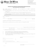 Request To Amend A Charitable Organization Registration Statement - Charitable Law Section