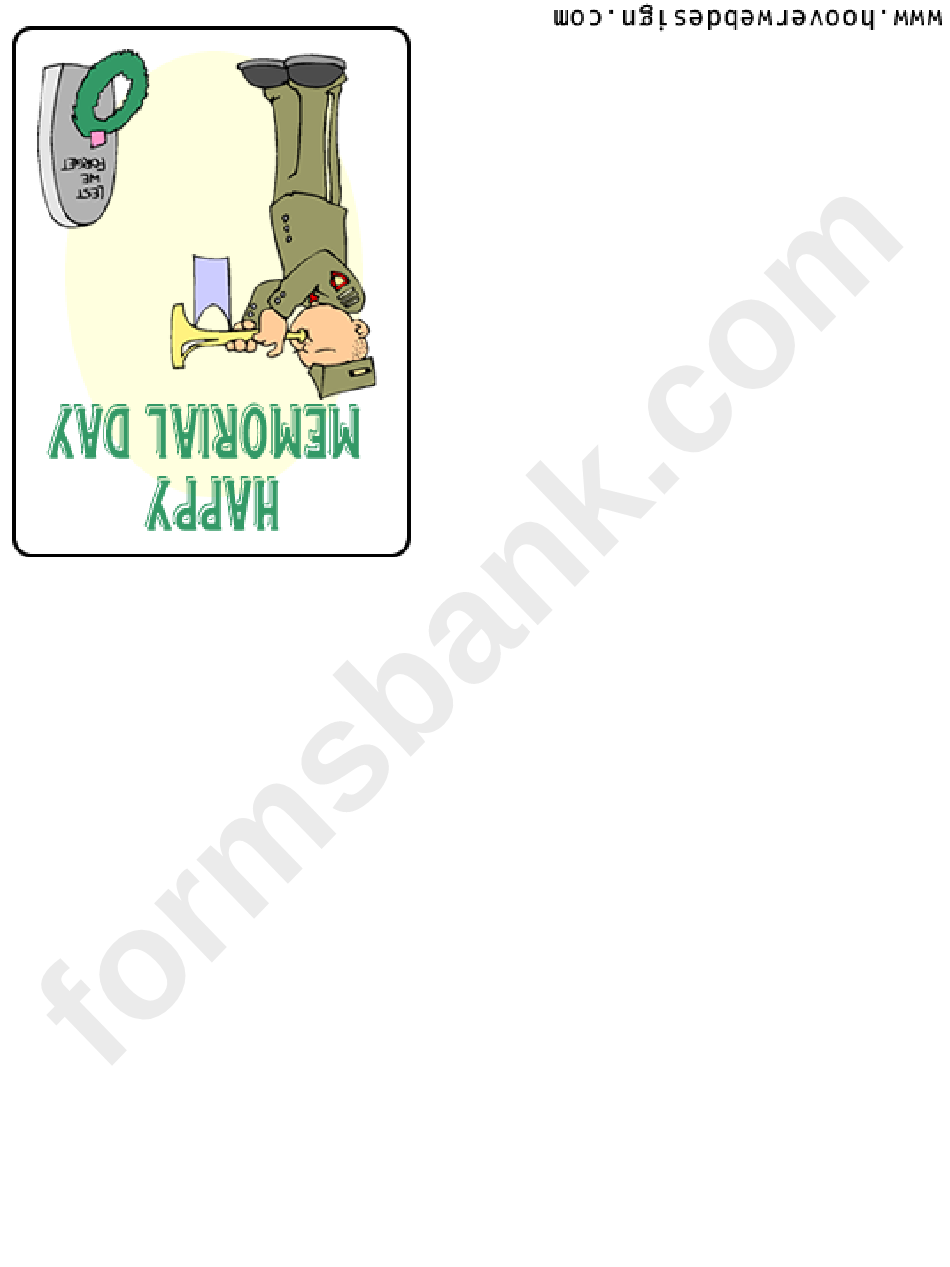 Happy Memorial Day Greeting Card Template