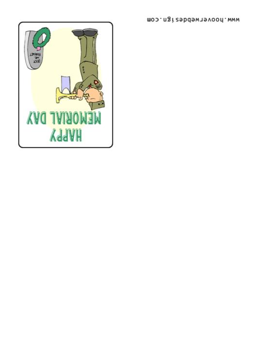 Happy Memorial Day Greeting Card Template Printable pdf