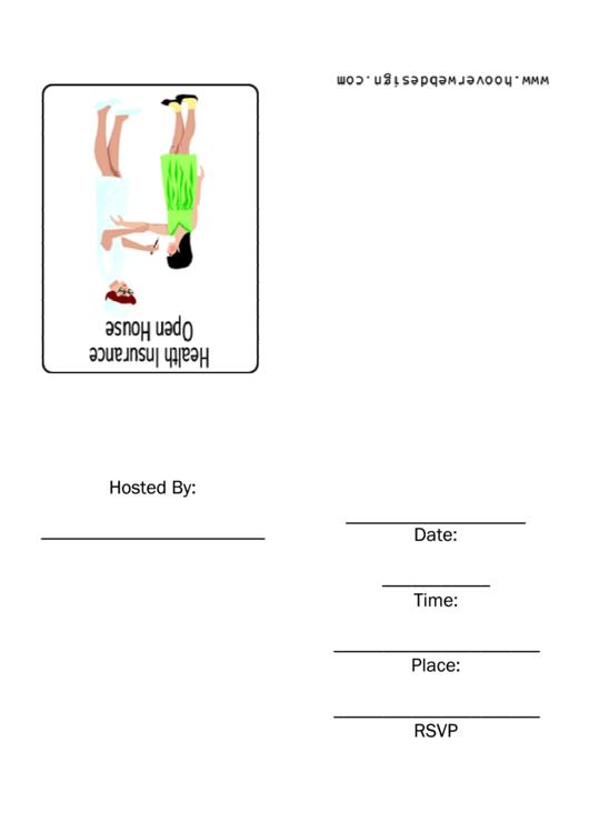 Healh Insurance Open House Invitation Template Printable pdf