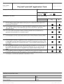 Form 14234 - Pre-cap And Cap Application Form - 2011
