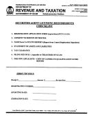 Requirements Agent Licensing Requirements Checklist