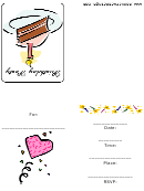 Birthday Party Invitation Template With 1 Candle