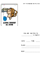 Backpack Back To School Party Invitation Template