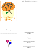 Pumpkin Carving Party Invitation Template