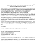 Instructions For Completing Kentucky Telecommunication Relay Service And Telecommunication Access Program Fund Report - 2009
