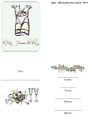 Engagement Party Invitation Template With Champagne Glasses