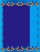 Blue Bows Border Template