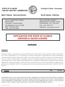 Application For Broker's Liquor Liicense Instructions