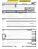 Form 540nr - California Nonresident Or Part-year Resident Income Tax Return - 2001
