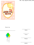 Easter Egg Hunt Party Invitation Template