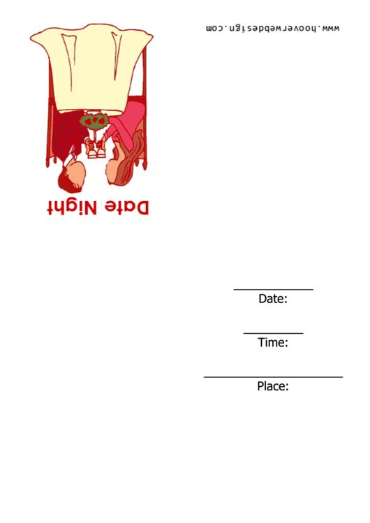Date Night Invitation Template Printable pdf