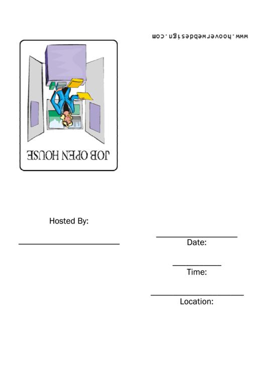 Job Open House Invitation Template Printable pdf