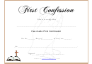 First Confession Certificate