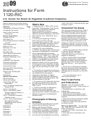 Instructions For Form 1120-ric - U.s. Income Tax Return For Regulated Investment Companies - 2009