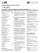 Instructions For Form 1120-ric - U.s. Income Tax Return For Regulated Investment Companies - 2006